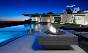 swimming pool space in Grandeur and luxury Hollywood house design 300x183 SW 7