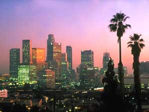 Los Angeles Skyline GREEN INVESTING