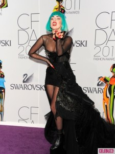 Lady Gaga Wears a Green Wig to CFDA Awards in NYC 1 435x580 225x300 Solar Satellites Key To Green Energy