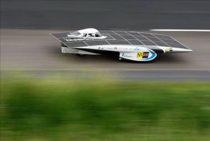 nuna 5 solar race2 300x201 Berkeley and Stanford Racing in 2011 World Solar Challenge