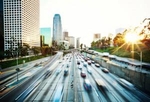 LA freeway 11 300x204 Go Drive Electric Vehicle Day In LA