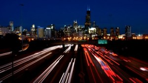 stock footage chicago city skyline night traffic loop 1 300x169 Green Icon Van Jones Speaks To Rebuild The Dream