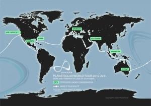 world around map 3 300x211 PlanetSolar Returns To Monaco Makes History