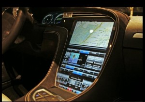 tesla model s screen 300x212 Tesla EV Model S Hitting The Road This Week