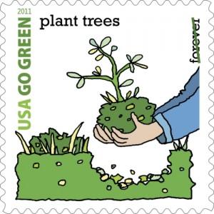 20120628202523ENPRNPRN US POSTAL SERVICE GREEN STAMP 90 1340915123MR 300x300 US Postal Service Planting Green Roofs