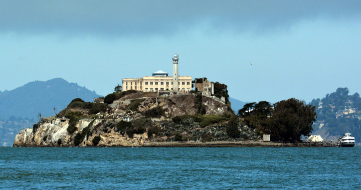 Sun Powers The Rock - Alcatraz photo by D Ramey Logan