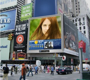 clear channel spectacolor hd 300x267 Empire State Solar Generation Photo Contest Billboard Goes Live